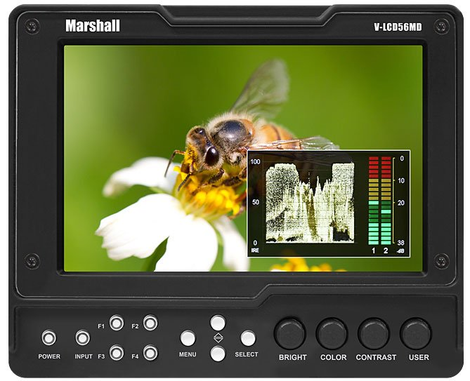 "5.6"" High Resolution Camera-Top Monitor with 3G Input Module with Loop-Through"