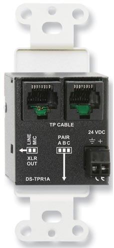 Active Single-Pair Receiver - Twisted Pair Format-A - XLR Mic/Line Output