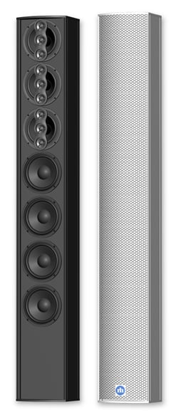 "7 x 4"" 175W Powered Mechanically Steerable Column Array Loudspeaker"