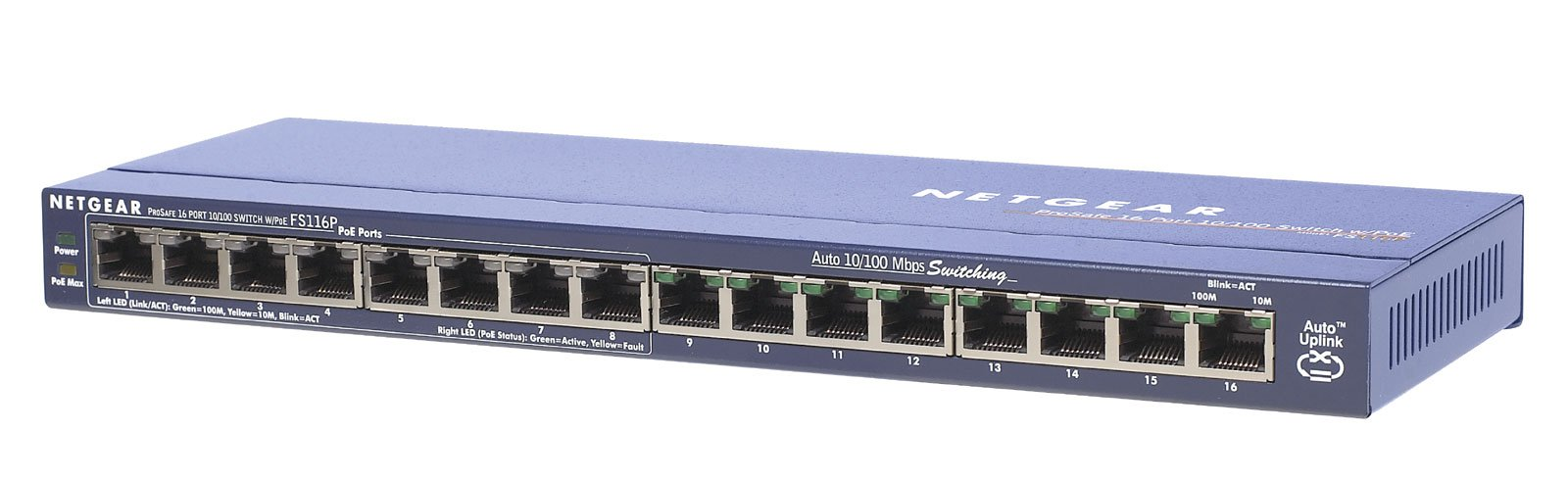 ProSafe 16-Port 10/100 Desktop Switch with 8-Port Power over Ethernet