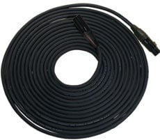 150 ft. 5-Pin DMX Lighting Cable with 2-Pair Cable, 24 Gauge Conductors, Neutrik XLR Connectors