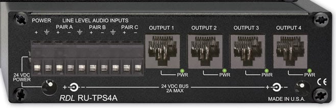 Active Sender/Distributor - Twisted Pair Format-A, 3 Audio Ins/4 Out