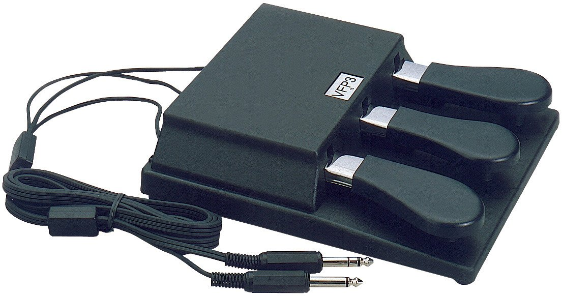 Triple Piano-style Sustain Pedal