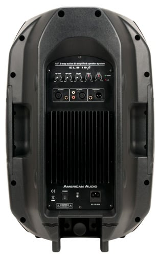 american audio els15a 15 2 way powered speaker in black full compass. Black Bedroom Furniture Sets. Home Design Ideas