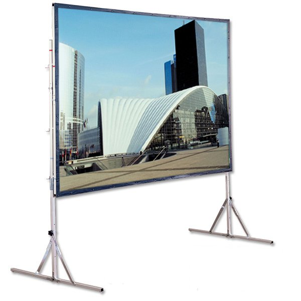 "65"" x 116"" HDTV Cinefold Portable Projection Screen, Matte White"
