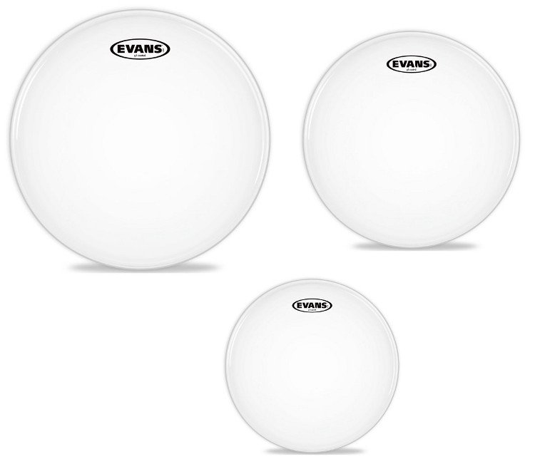 "3-Pack of G1 Coated Tom Tom Drumheads: 12"",13"",16"""