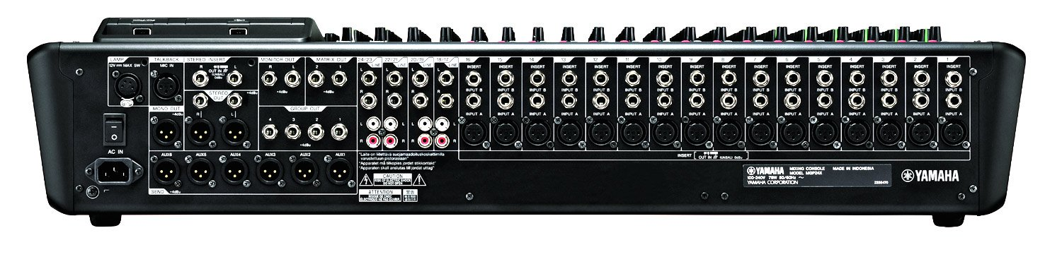 yamaha mgp24x 24 channel mixer with usb recording and fx full compass. Black Bedroom Furniture Sets. Home Design Ideas