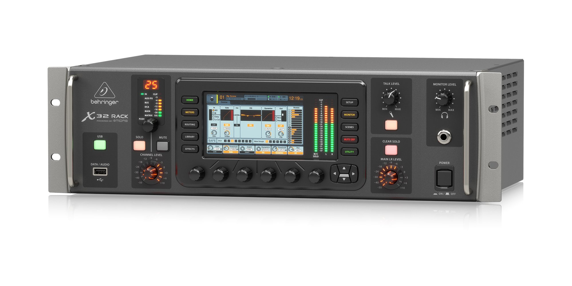 behringer x32 rack 40 channel 25 bus digital rackmount mixer with 16 mic preamps full compass. Black Bedroom Furniture Sets. Home Design Ideas