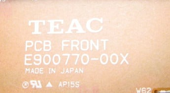 Tascam DAT Front PCB
