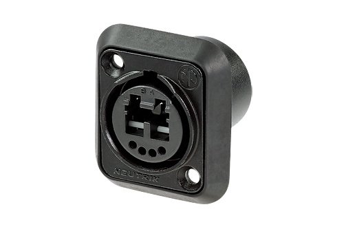 opticalCON DUO Chassis Connector in Black