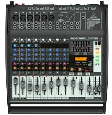 500W 12 Channel Powered Mixer
