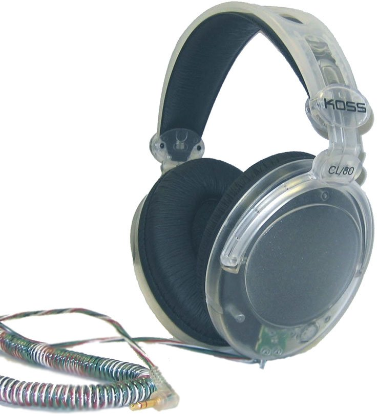 Clear Stereo Headphones with Large Ear Cushions