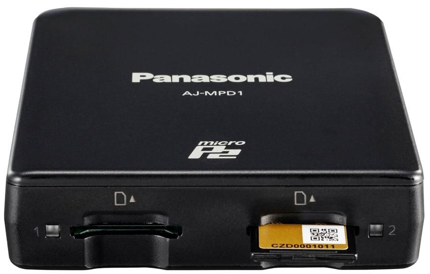 Dual-Slot microP2 Memory Card Drive