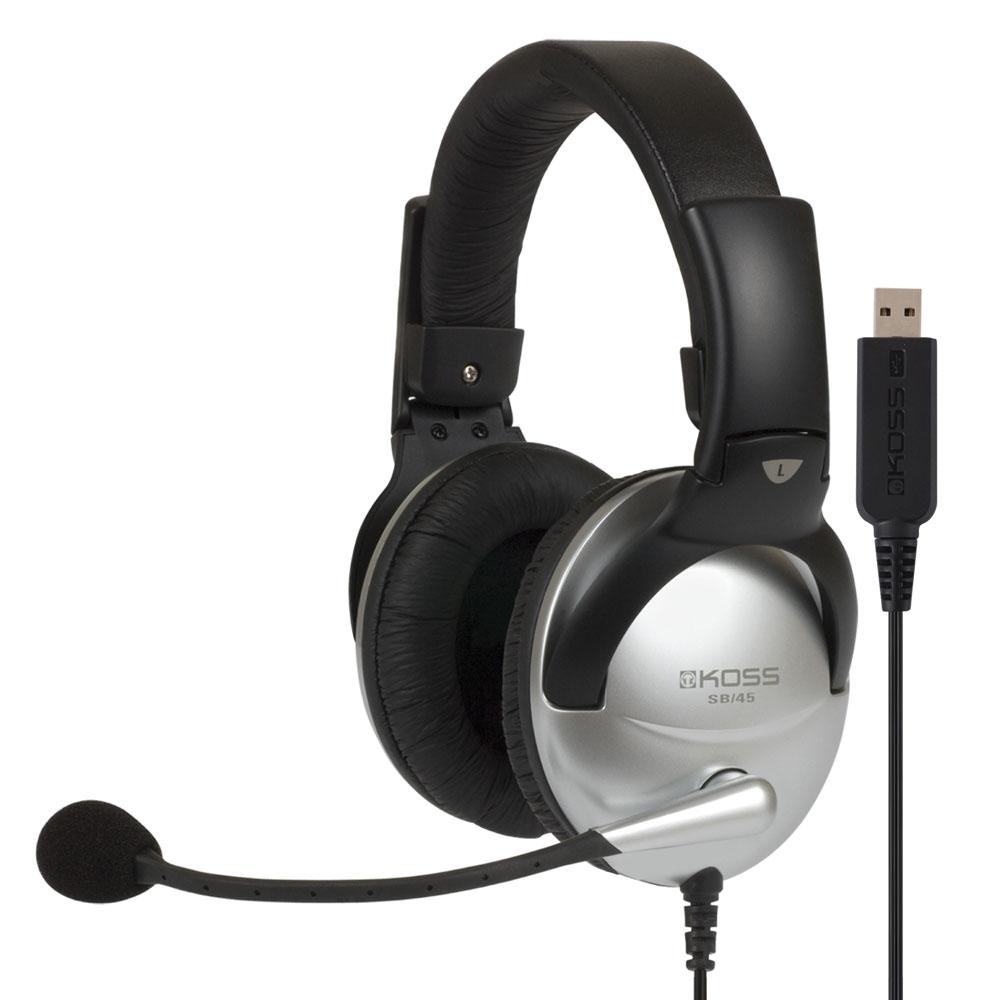 Communication Headset with USB Plug