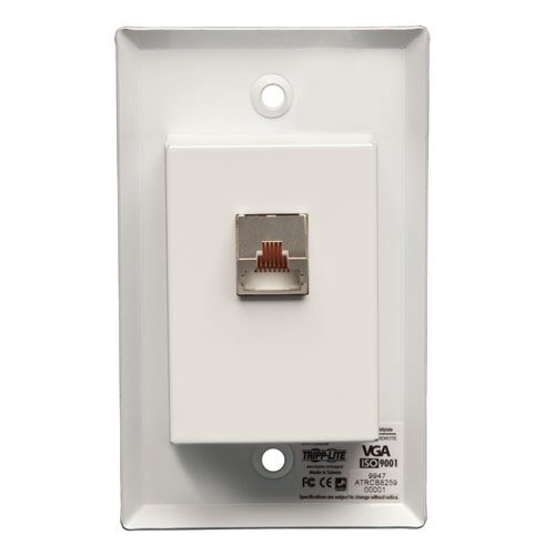 RJ45-type Wallplate with VGA & Audio over Cat5 Receiver