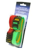"12-Pack of 11"" Hook & Loop Cable Management Straps, Bright Multi-Color"