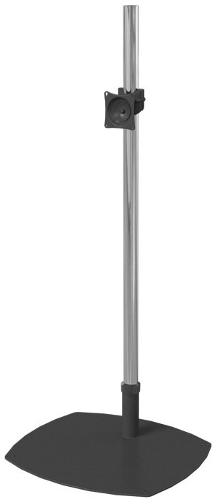 "Single-Pole Floor Stand for Flatscreens with 72"" Pole & Low-Profile Base"