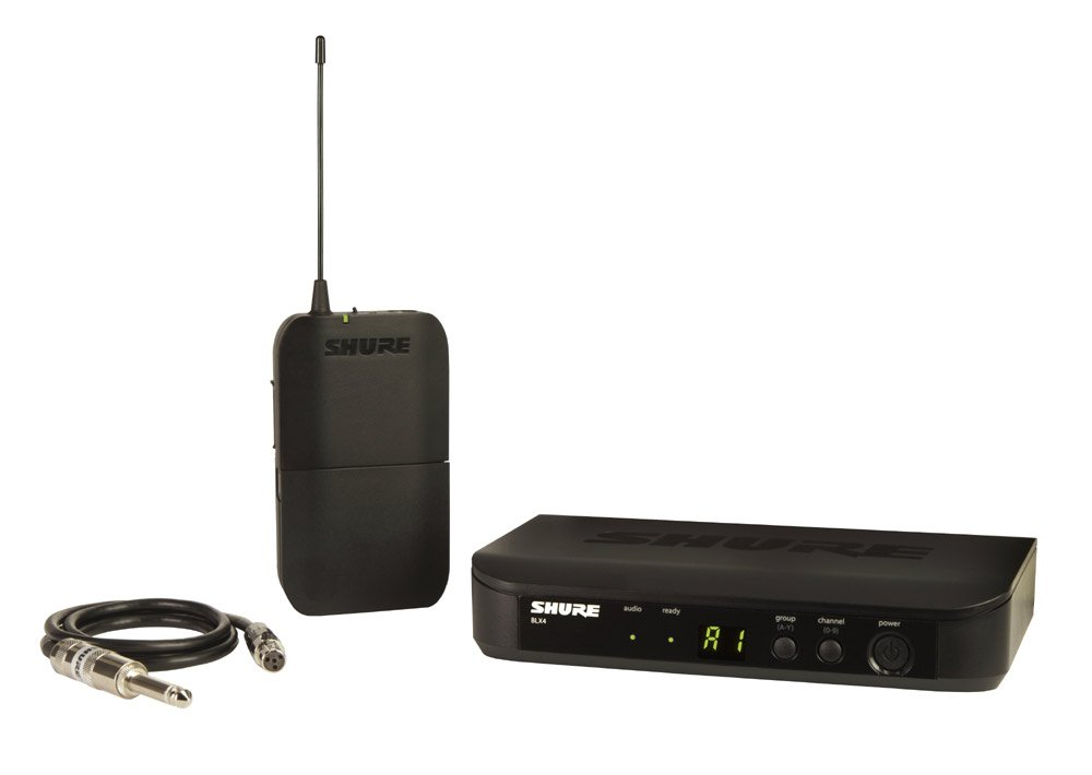 Wireless Guitar System with BLX1 Bodypack Transmitter and BLX4 Receiver, 584-608 MHz
