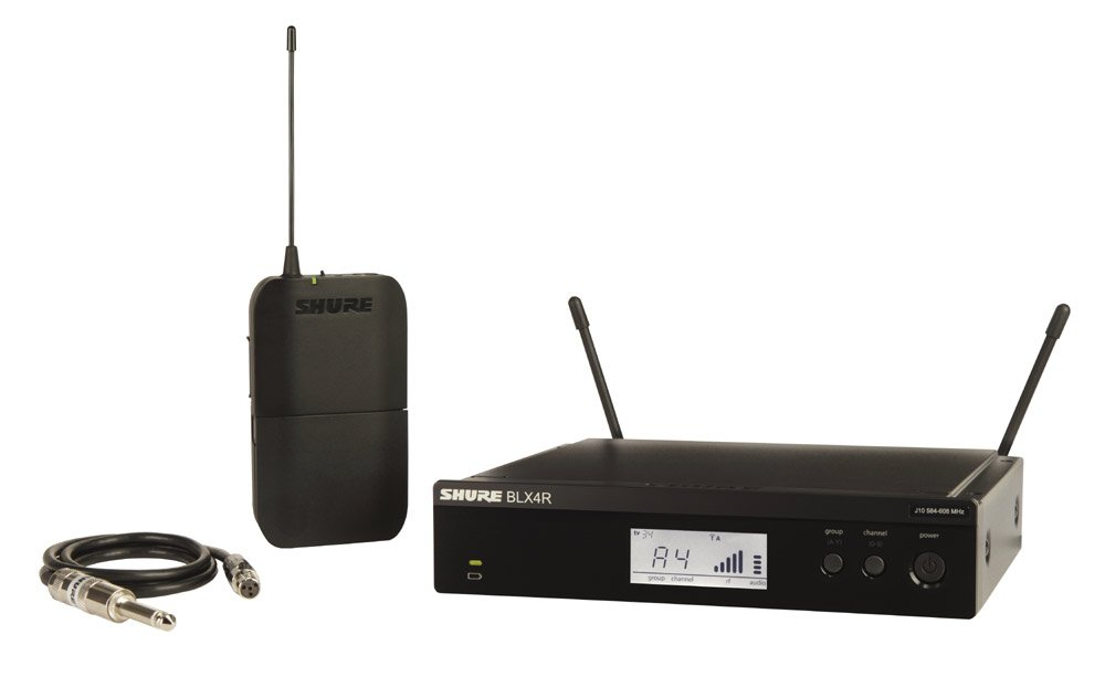 Wireless Guitar System with Rackmountable Receiver, J10: 584-608 MHz