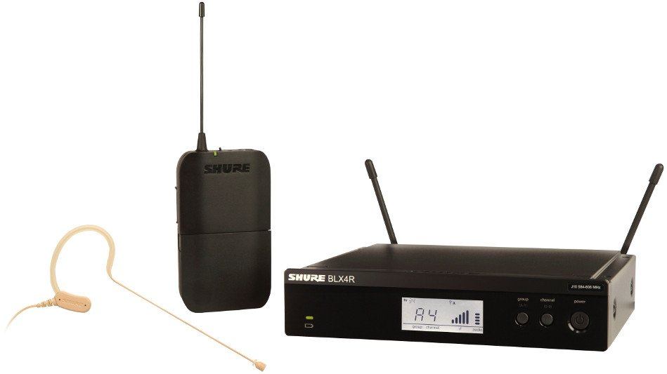 Shure BLX14R/MX53-J10 Wireless Headset System with MX153T/O-TQG Earset Microphone, 584-608 MHz BLX14R/MX53-J10