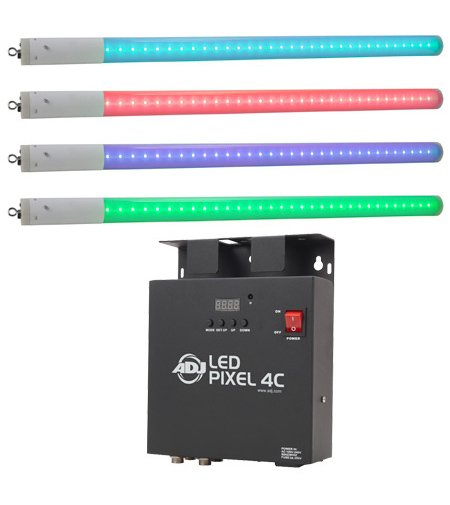 LED Color Changing Tube and 4-Channel Driver and Controller