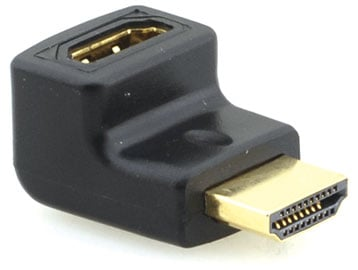 HDMI (F) to HDMI (M) Right-Angle Adapter