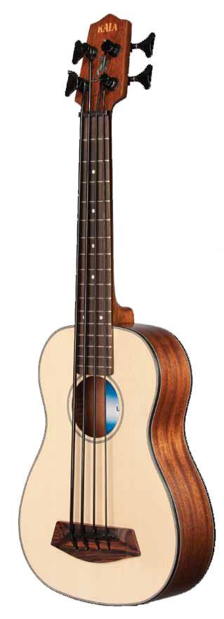 Solid Spruce Top U-BASS Fretless Bass Ukulele