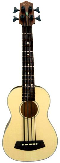 Kala Brand Music Co. UBASS-SSMHG-FL Solid Spruce Top U-BASS Fretless Bass Ukulele UBASS-SSMHG-FL