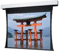 """69"""" x 92"""" Tensioned Advantage® Deluxe Electrol® Electric Projection Screen, Pearlescent"""