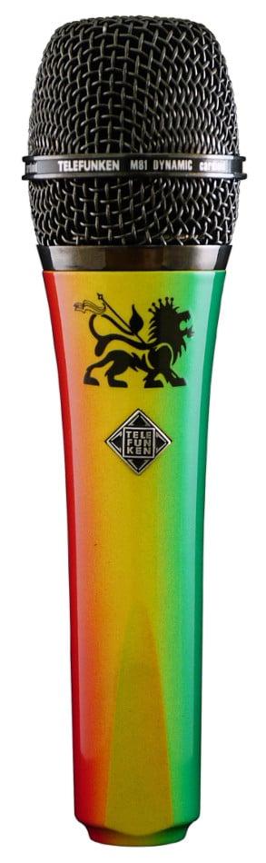 Dynamic Handheld Cardioid Microphone in Red/Yellow/Green Reggae Theme