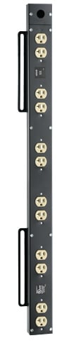 Atlas Sound ACS-2A 12 Outlet 12A AC Outlet Strip, Black ACS2A