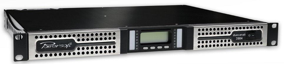 2-Channel Power Amplifier with DSP + AESOP Ethernet Interface