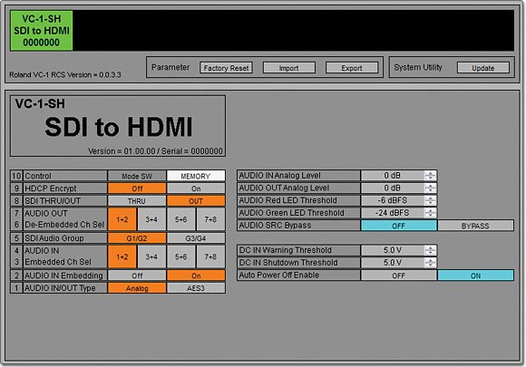 Roland System Group VC 1 SH SDI to HDMI Video Converter