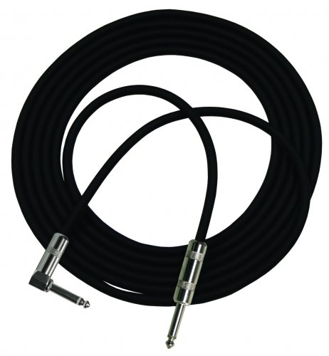 "10 ft. StageMASTER Instrument Cable with 1x Right-Angle 1/4"" Plug"