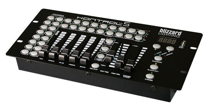10 Channel DMX Controller with 5 Faders