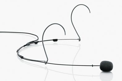 Miniature Cardioid Headset Microphone for Sennheiser Wireless in Beige