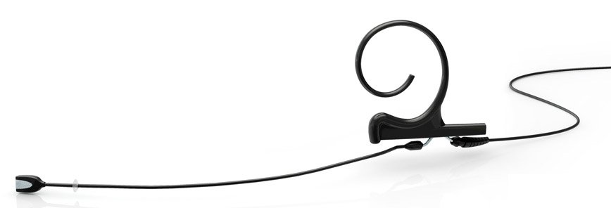 d:fine™ Directional Headset with Medium Boom, Single Ear, TA-4F Connector for Shure, Black