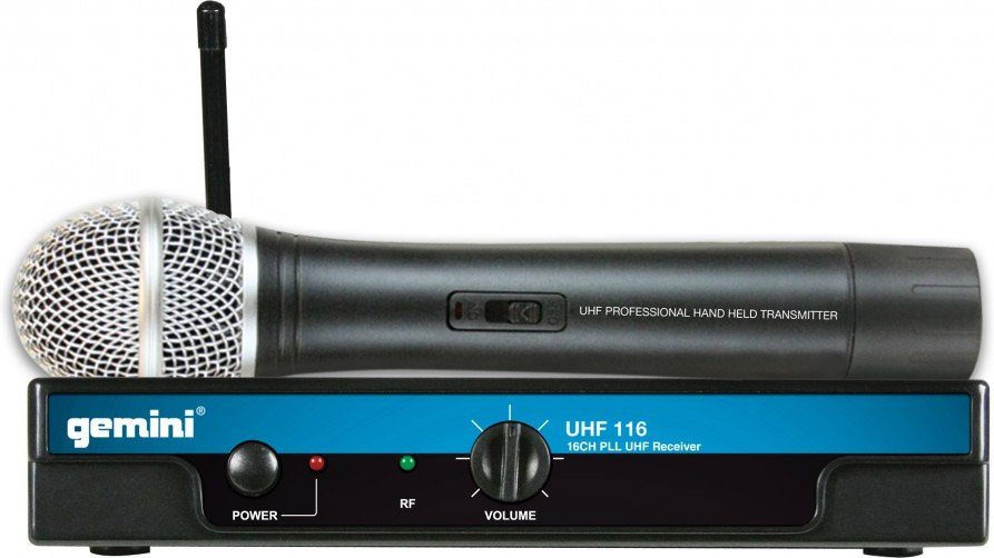 Single Channel Wireless System with a Hanheld Microphone Transmitter