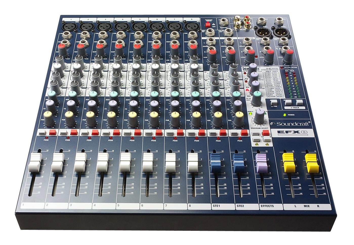 8 Channel Multipurpose Compact Mixer with Effects