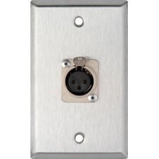 Single-Gang Wall Plate with 1 XLR-F Connector