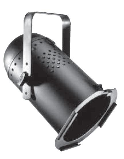 Par64 Light Fixture in Black Aluminum