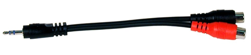 "6"" 3.5mm Stereo Mini Plug to 2 RCA Female Jacks Audio Adapter Cable"