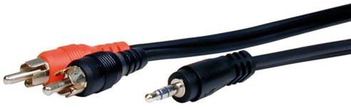 6 ft. Standard Series 3.5mm Stereo Mini TRS Plug to 2 RCA Males Audio Cable