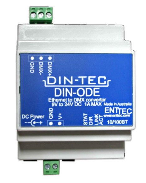 DIN-ODE DMX Over Ethernet Node