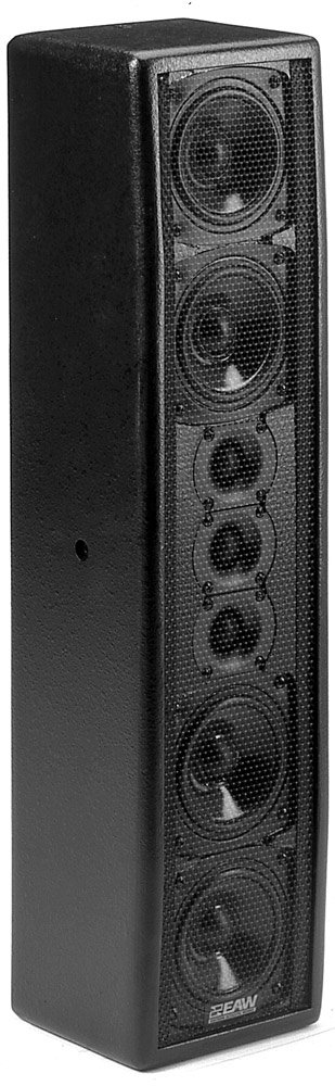 150W Two-Way Passive Full-Range Column Speaker in Black