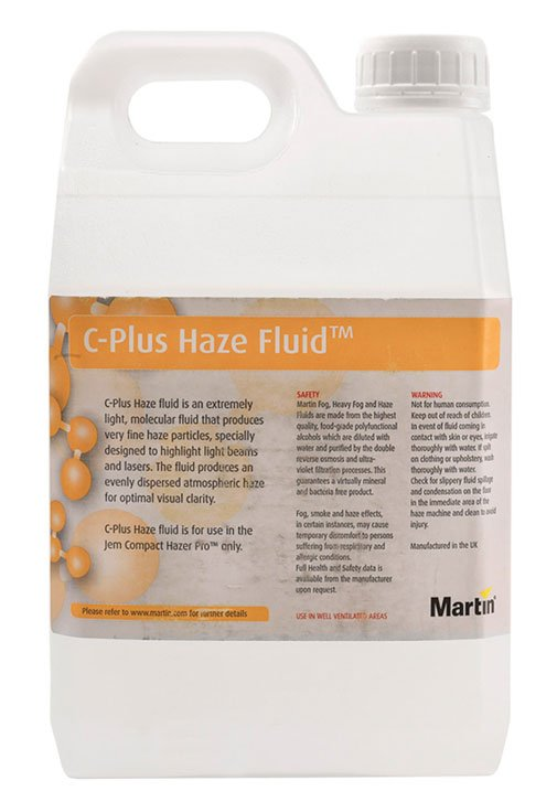 2.5L Container of C-Plus Fluid for Jem Compact Hazer Pro