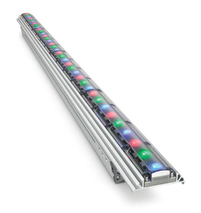 ColorGraze QLX Powercore, 2 ft Linear LED Fixture, 10° x 60° Beam Angle