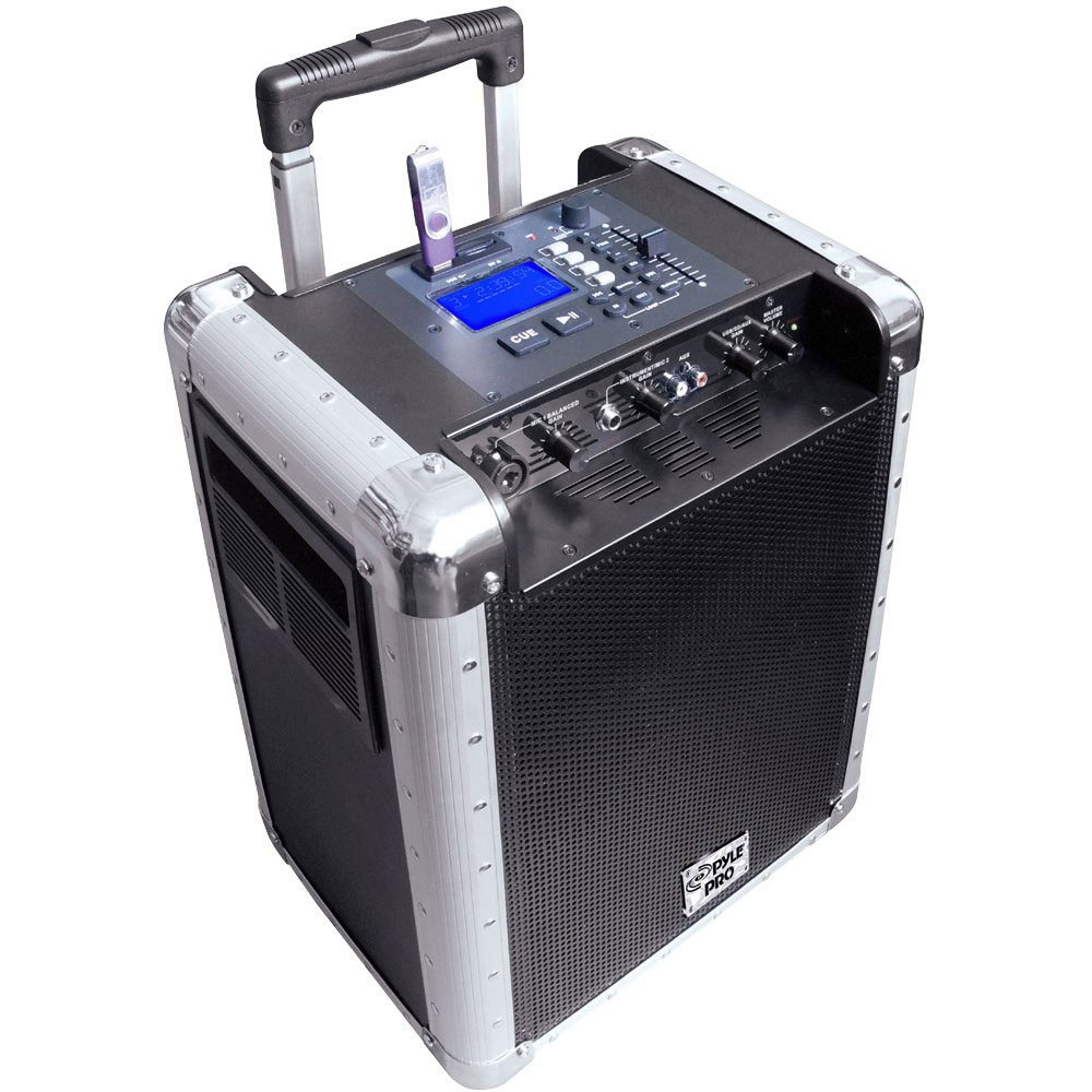 """Pyle Pro PCMX265W 8"""" Portable PA System with MP3 and DJ Efffects, White PCMX265W"""