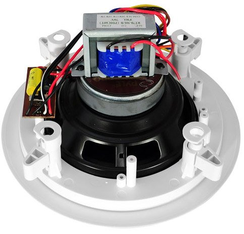 6.5'' Two-Way In-Ceiling Speakers with 70V Transformer