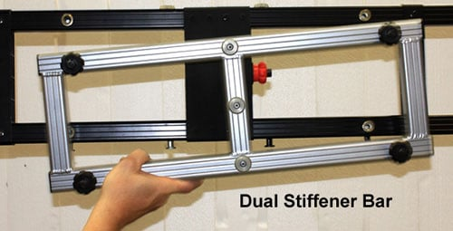 "4x22"" Black StageScreen Dual Stiffener Bar"